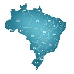 Cidades percorridas no Brasil