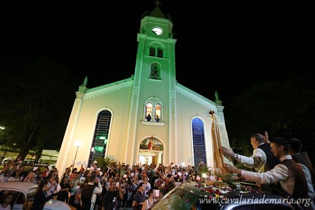 Em Aguaí – SP, na Paróquia do Senhor Bom Jesus, Missões para Cristo com Maria