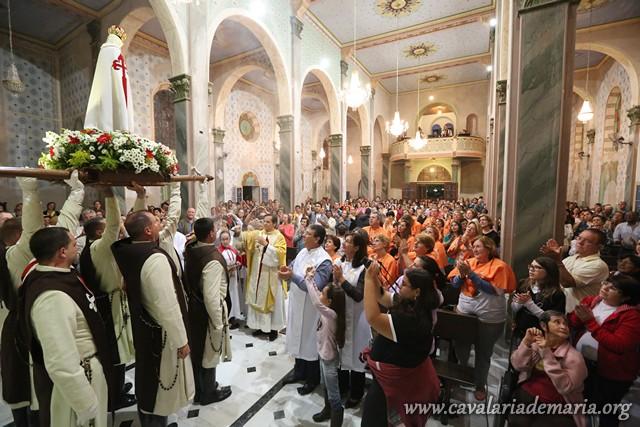 Em Aguaí – SP, na Paróquia Senhor Bom Jesus, encerramento de Missões Marianas