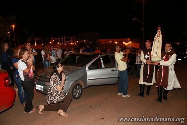 Em Brasília – DF, na Paróquia São Domingos Sávio do Riacho Fundo, Missões para Cristo com Maria