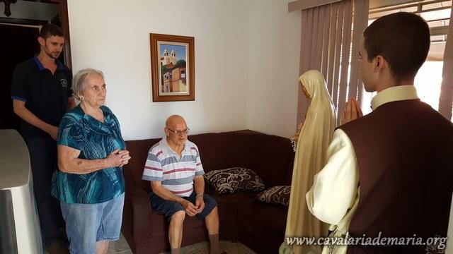 Em São João da Boa Vista – SP, visitas com a imagem peregrina