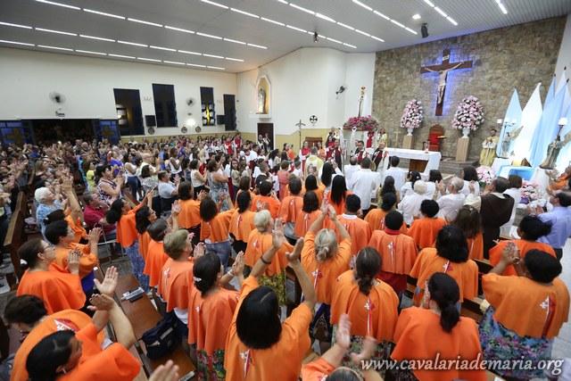 Em São João da Boa Vista – SP, na Paróquia Sagrado Coração de Jesus, encerramento de semana missionária