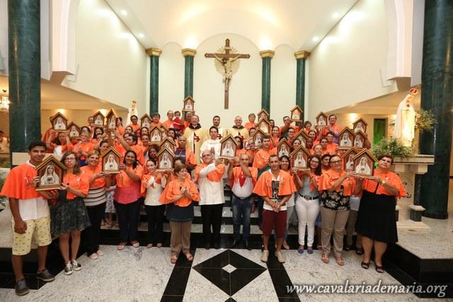 Em Cajuru – SP, na Paróquia Nossa Senhora de Fatima, encerramento de semana missionária