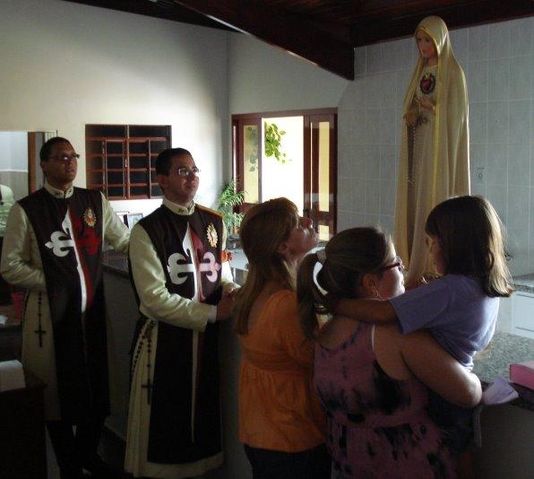 Visita aos lares em Pereiras-SP.