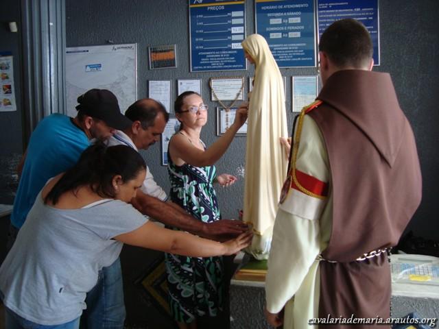 Visita aos fieis da comunidade do Campo do América na Aldeota em Fortaleza – CE