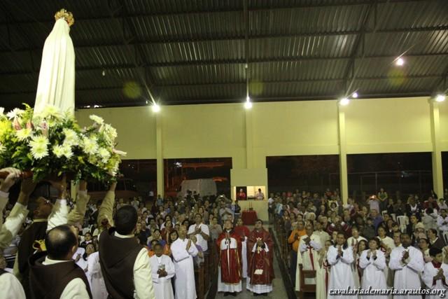 Missa na capela do Sagrado Coração em Italva – RJ