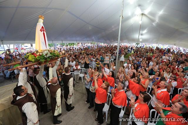 Em Sorocaba – SP, na Paróquia Nossa Senhora de Fátima, encerramento de Missões para Cristo com Maria